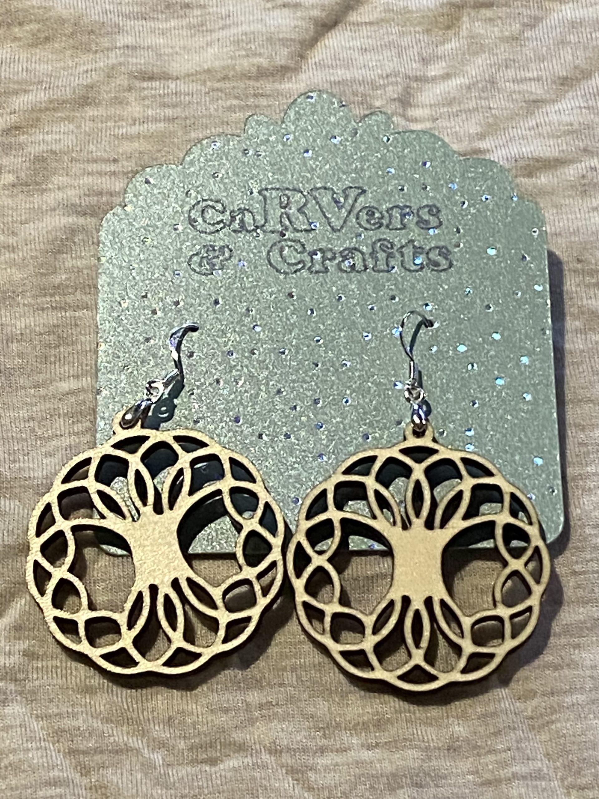 tree of life and cornaline earrings